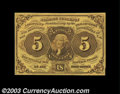 Fractional Currency:First Issue, Fr. 1230 5¢ First Issue Gem New. A fresh, original note, ...