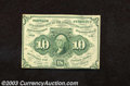 Fractional Currency:First Issue, First Issue 10c, Fr-1243, XF-AU. A couple of light folds ...
