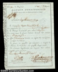 Stocks and Bonds:Certificates with Significant Autographs, Samuel Du Pont De Nemours - Bank Territorial