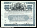 Stocks and Bonds:Certificates with Significant Autographs, George Eastman- Chicago, Rock Island & Pacific Railway ...