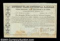 Stocks and Bonds:Certificates with Significant Autographs, John C. Fremont - Southern Trans-Continental Railroad (...