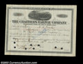 Stocks and Bonds:Certificates with Significant Autographs, Henry Clay Frick - Chartiers Railway Company (Pennsylvania)...