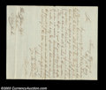 Stocks and Bonds:Certificates with Significant Autographs, Albert Gallatin - Treasury Letter