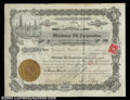 Stocks and Bonds:Certificates with Significant Autographs, George Getty - Oklahoma Oil Corporation (Arizona)