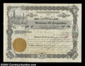 Stocks and Bonds:Certificates with Significant Autographs, J. Paul Getty - Oklahoma Oil Corporation