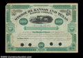 Stocks and Bonds:Certificates with Significant Autographs, Jay Gould - Missouri, Kansas and Texas Railway (Texas)