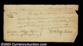 Stocks and Bonds:Certificates with Significant Autographs, Thomas McKean, Signer of the Declaration of Independence ...