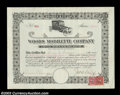 Stocks and Bonds:Automobile Certificates, Woods Mobilette Company (Arizona)