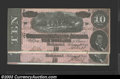 Confederate Notes:1864 Issues, Two Consecutive 1864 $10s Horses pulling Cannon; R.M.T. Hunter ... (2 notes)