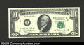 Error Notes:Partial Third Printing, Pair of 1981 $10 Federal Reserve Notes, Fr-2025-B, Choice CU, ... (2 notes)