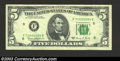 Error Notes:Ink Smears, 1969-C $5 Federal Reserve Note, Fr-1972-F, XF, with ink smear ...