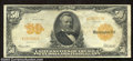 Large Size:Gold Certificates, 1913 $50 Gold Certificate, Fr-1199, Very Fine. Gold ...