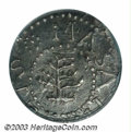 1652 3PENCE Pine Tree Threepence AU53 PCGS. Pellets at Trunk. Breen-50, Noe-34. 17.3 grains. Slightly wavy, as nearly al...