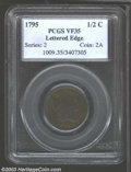 Half Cents: , 1795 1/2 C Lettered Edge VF35 PCGS. B-1, C-1, R.2. A ...