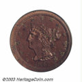 Proof Braided Hair Half Cents: , 1847 1/2 C Restrike PR61 Red and Brown PCGS. B-3, Low R.6....