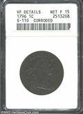 Large Cents: , 1796 1C Reverse of 1796--Corroded--ANACS. VF Details, Net ...