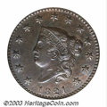 Large Cents: , 1821 1C MS61 Brown NGC. N-2, R.1. Only 389,000 cents were ...