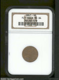 Flying Eagle Cents: , 1857 1C MS64 NGC. A bright tan cherry specimen with a few ...