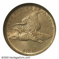 Flying Eagle Cents: , 1857 1C MS64 NGC. An attractive oak color with a slight ...