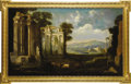Fine Art - Painting, European:Antique  (Pre 1900), A Landscape with Roman Ruins. Unknown. English, Late 18th Century.Oil on canvas. 32 inches x 54 inches. A large English...