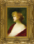 Fine Art - Painting, European:Antique  (Pre 1900), A Portrait of a Lady. Francois Verly, French. 19th Century. Oil oncanvas. Signed at lower left: F. Verli. 23.5 inche...