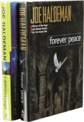 Books:First Editions, Joe Haldeman: Two Book Lot, including:. Forever Peace. (NewYork: Ace Books, 1997), first edition, 326 pages, olive ...