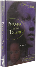 Books:First Editions, Octavia E. Butler: Parable of the Talents. (New York: SevenStories Press, 1998), first edition, 365 pages, black paper ...