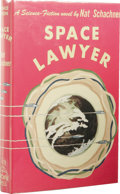 Books:First Editions, Nat Schachner: Space Lawyer. (New York: Gnome Press, 1953),first edition, 222 pages, yellow cloth with green lettering ...