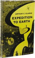 Books:First Editions, Arthur C. Clarke: Expedition to Earth. (New York: BallantineBooks, 1953), first edition, 165 pages, bound in black...