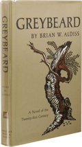 Books:First Editions, Brian W. Aldiss: Greybeard. (New York: Harcourt, Brace andWorld, Inc., 1964), first edition, 245 pages, gray cloth with...