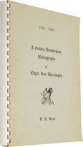 Books:First Editions, A Golden Anniversary Bibliography of Edgar Rice BurroughsCompiled by Henry Hardy Heins. (Albany, New York: Heins, 1...