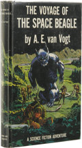 Books:First Editions, A.E. van Vogt: The Voyage of the Space Beagle. (New York:Simon and Schuster, 1950), first edition, 240 pages, charcoal-...