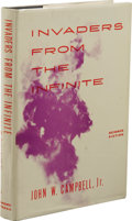 Books:First Editions, John Campbell, Jr.: Invaders from the Infinite. (New York:Gnome Press, 1961), first edition, 189 pages, navy blue cloth...