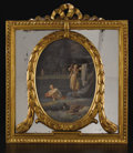 Decorative Arts, Continental:Other , A Group of Four Oval Paintings. Unknown. Italian, 19th Century. Oilon canvas. 14 inches x 14 inches each (unframed). Fo... (Total: 4 )