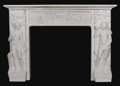 Paintings, An Important Italian Carved Marble Mantlepiece. Unknown maker, Italian. Nineteenth century. Marble. Unmarked. 47.5 inches ...
