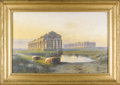 Paintings, The Temples of Paestum. Giovanni Battista (1858-1925). Italian, 19th Century. Pastel on paper. Signed at lower right: G....