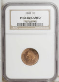 Proof Indian Cents: , 1868 1C PR64 Cameo NGC. PCGS Population (3/4). (#82293)...