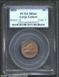 Flying Eagle Cents: , 1858 1C Large Letters MS64 PCGS. Snow-2. STATES OF ...