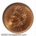 Indian Cents: , 1909-S 1C MS65 Red NGC. This key issue in the Indian cent ...