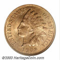 Indian Cents: , 1909-S 1C MS65 Red PCGS. A Gem golden-red example of this ...
