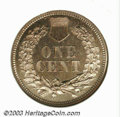 Proof Indian Cents: , 1860 1C PR65 NGC. Only 250 or so 1860 proofs were struck ...