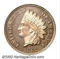 Proof Indian Cents: , 1862 1C PR66 PCGS. Eagle Eye Photo Seal. A moderately ...