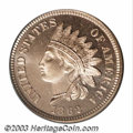 Proof Indian Cents: , 1862 1C PR65 Cameo PCGS. Just 550 proofs of this date ...