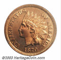 Proof Indian Cents: , 1870 1C PR66 Red PCGS. Bright orange-gold surfaces are ...
