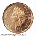 Proof Indian Cents: , 1875 1C PR65 Red NGC. One of two Gem Full Red examples of ...