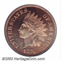 Proof Indian Cents: , 1876 1C PR65 Cameo PCGS. A difficult date to locate in ...