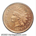 Proof Indian Cents: , 1877 1C PR63 Red and Brown PCGS. Struck from the other ...