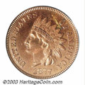 Proof Indian Cents: , 1877 1C PR63 Red PCGS. This piece seems to have been ...