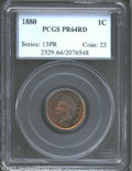 Proof Indian Cents: , 1880 1C PR64 Red PCGS. Brilliant cherry surfaces with ...
