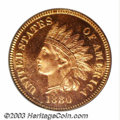 Proof Indian Cents: , 1880 1C PR65 Red Cameo PCGS. First of two proofs from the ...